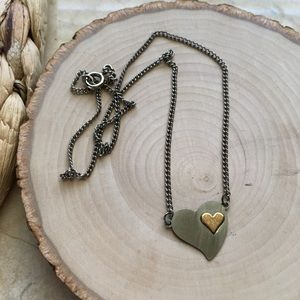 Vintage Silver Heart Necklace
